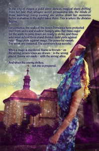 The lovely back cover for Heiress of Magic