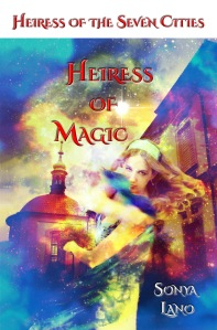 The lovely front cover for Heiress of Magic
